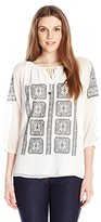Calvin Klein Women's Blouse with Embroidery