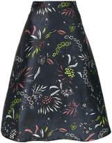 Markus Lupfer embroidered flared skirt