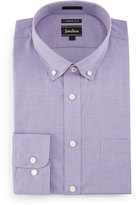Neiman Marcus Extra-Trim Fit Neat-Print Dress Shirt, Purple