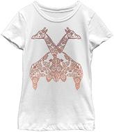 Fifth Sun White Henna Giraffes Tee- Toddler & Girls