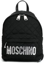 Moschino quilted backpack - women - Leather/Nylon/Polyamide - One Size