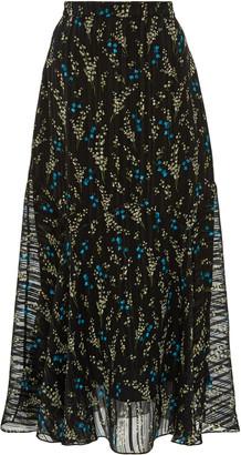 Erdem Shea Floral Printed Midi Skirt