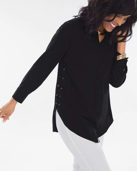 Chico's Chicos Lace-Up Side Tunic