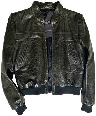 Balenciaga Green Leather Leather jackets
