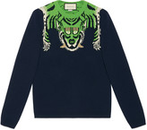 Gucci Wool sweater with tiger