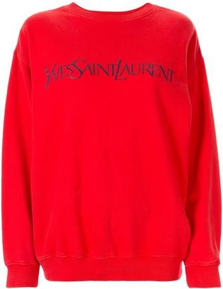 Yves Saint Laurent Pre Owned Logo Print Sweatshirt