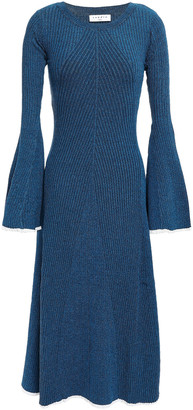 Sandro Ribbed-knit Midi Dress