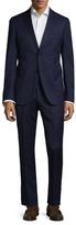 Zanetti Luca Wool Solid Notch Lapel Suit