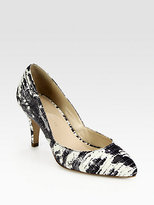 Tasmin Lizard-Print Leather Pumps