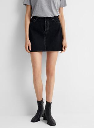 Acne Studios Black denim mini skirt