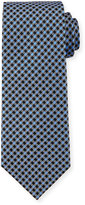 Neiman Marcus Check-Pattern Silk Tie, Royal