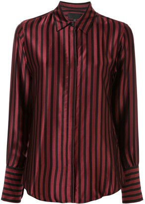 Nili Lotan Striped Satin Shirt