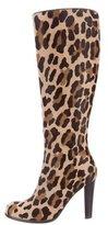 Blumarine Round-Toe Knee-High Boots