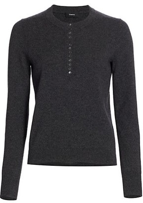 Theory Cashmere Henley Placket