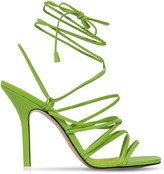 ATTICO The 105MM LEATHER LACE UP SANDALS