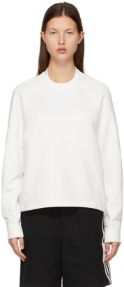Y-3 White CL Logo Sweatshirt