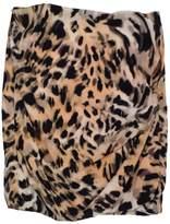 Yoana Baraschi Tan & Black Leopard Print Silk Skirt