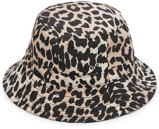 Ganni Leopard-print Shell Bucket Hat