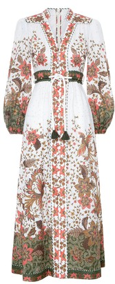 Zimmermann Empire Button Front Long Dress