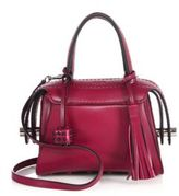 Tod's TWI Bauletto Leather Satchel