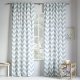 Cotton Canvas Zigzag Printed Curtain - Light Pool