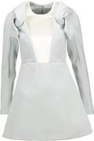 DELPOZO Velvet paneled tech-jersey mini dress