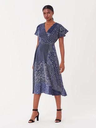 Diane von Furstenberg Kelsey Stretch-Georgette Midi Wrap Dress