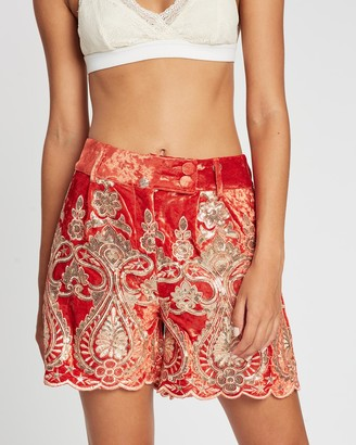 LENNI the label - Women's Orange High-Waisted - Whiskey Shorts - Size One Size, XS at The Iconic