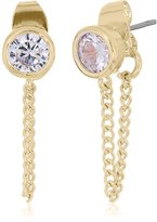 Jessica Simpson Cubic Zirconia Front To Back Rose Gold Earrings