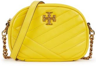 Tory Burch Kira yellow leather cross-body bag