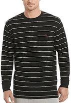 Polo Ralph Lauren Waffle-Knit Horizontal Striped Long-Sleeve Crewneck