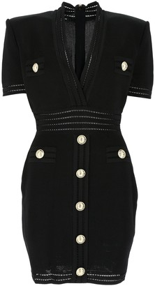 Balmain Short Sleeve Fitted Dress
