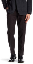 """Bonobos Foundation Blue Checkered Regular Fit Double-Pleated Cotton Trouser - 30-34"""" Inseam"""