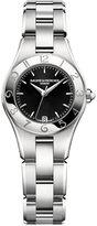 Baume & Mercier Women's Swiss Linea Stainless Steel Bracelet Watch with Interchangeable Black Satin Strap 27mm M0A10010