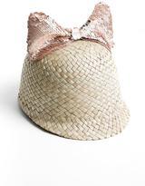 Federica Moretti Federicamoretti Sequin-Bow Straw Hat