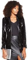 Very Sequin Blazer in Black Size 8