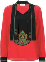 Etro neck tie patterned blouse