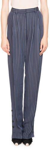 Altuzarra Lidig High-Waist Pinstripe 2-Pleat Straight-Leg Trousers