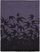 McQ by Alexander McQueen Purple Swallow Dégradé Scarf