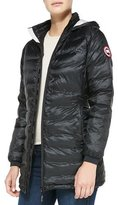 Canada Goose Camp Hooded Mid-Length Puffer Coat, Black