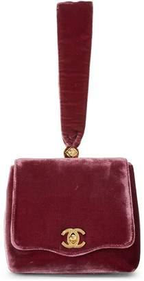 Chanel Purple Velour Handbag