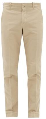 Incotex Verve Slim-fit Cotton-blend Twill Trousers - Beige
