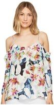 Nicole Miller Schuler Spring Floral Top Women's Clothing