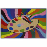 Asstd National Brand Painting Time Rectangle Rugs