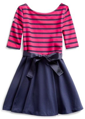 Ralph Lauren Two-Tone Ponte Dress