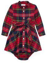 Ralph Lauren Tartan Flannel Dress & Bloomer Royal Tartan 3M