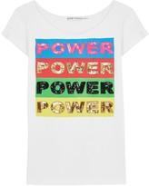 Alice + Olivia X Lakwena Mikey embellished cotton T-shirt