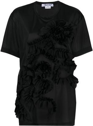 Comme des Garçons Comme des Garçons ruffle front round neck T-shirt