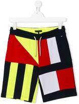 TEEN colour block shorts