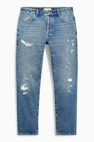 Light Blue Ripped And Repaired Jeans